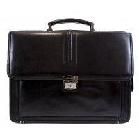 Классический кожаный портфель черный AB 117995-Marchioness