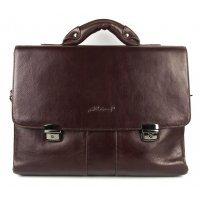 Кожаный портфель мужской коричневый Albatross 119070 Brauron