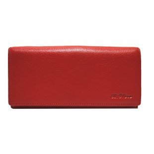 Женский кошелек из натуральной кожи красный Bristan-Wero-117720-Red