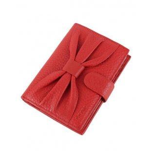 Обложка для автодокументов и паспорта с картами красная кожаная Bristan Wero 119684