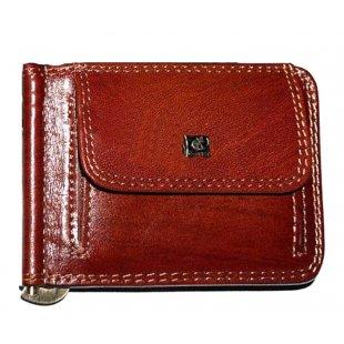 Кожаный зажим для денег с мелочницей и картами Cosset 118920