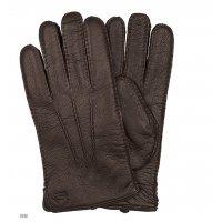 Перчатки мужские кожаные утепленные Gloves 122135 Snow