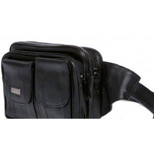 Мужская сумка на пояс кожаная Gold 117805 Coral
