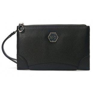 Мужская сумочка клатч на молнии из натуральной кожи Hight Touch 118970