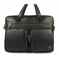 Мужская кожаная сумка для ноутбука и документов Hight Touch 119016 Galbiani