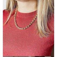 Цепочка золотая женская на шею jhechoamano 122154