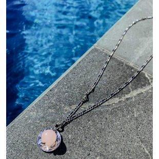 Прекрасная цепь с розовым кварцем jhechoamano-122160