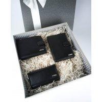 Мужской подарочный набор из 3 кожаных аксессуаров Marco Santori 119302-X 003