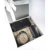 Мужской подарочный набор в коробке из 3-х кожаных аксессуаров Marco Santori 119304 M003