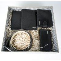 Мужской подарочный набор из 5 кожаных аксессуаров в коробке с открыткой Marco Santori 119309 TS 005